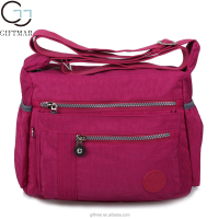 wholesale cheap multifunctional nylon shoulder bag, messenger bag
