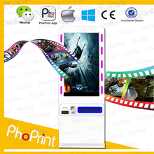 custom-made consumer electronic innovation 42 inch free standing lcd advertising coin operated photo vending machine