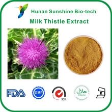 Raw material 80% Silymarin Silybum marianum Milk thistle extract powder