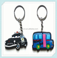 FREE MOLD COST Vehicle design soft pvc rubber 3d key chain