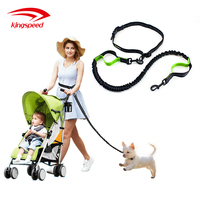 premium nylon reflective bungee hands free jogging dog leash