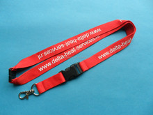 custom silk imprint lanyards no minimum order