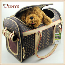 Pet products Classics plaid dog carriers artificial leather for small animals carry travel pet bag