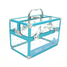 Acrylic cosmetic organizer case portable display makeup kit jewelry box