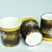 Wholesale pe coated printed soda cold drinks custom printing single wall coffee paper cup