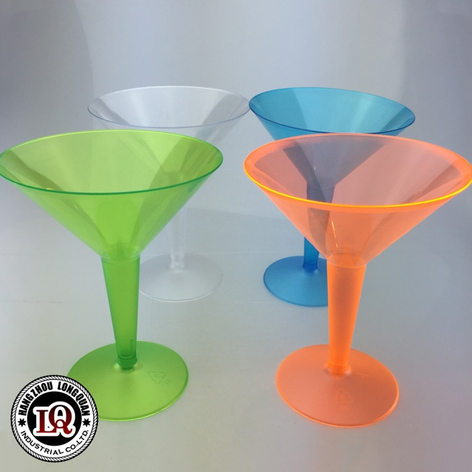 Disposable Cheap Party Usage Martini Plastic Glass