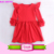 2016 New design baby vintage rosette tutu baby dress hand embroidery designs for baby dress
