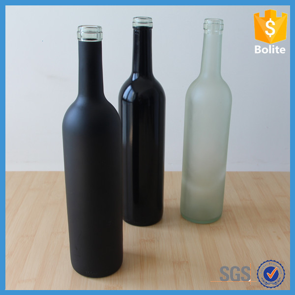 Wholesale 750ml glass wine bottle with corks buy glass for Colored glass bottles with corks