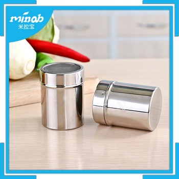 stainless steel kitchen canisters seasoning jar