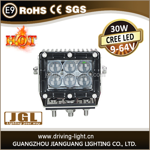 New Flood/spot CREE 30w LED Work LAMP Light Bar Off Road Lamp for new agricultural machines, atvs, waterproof IP67