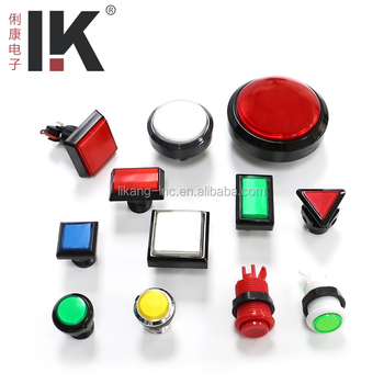 Firm and durable triangular push button for various game machine