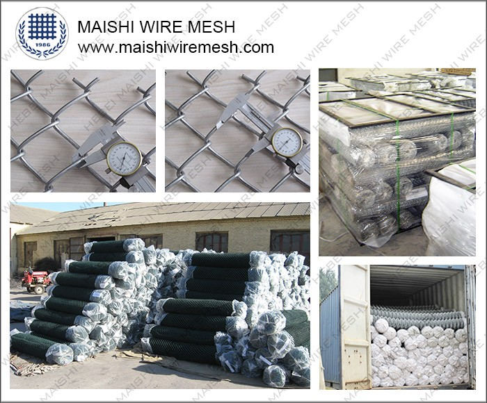 Green PVC Coated fencing chain link