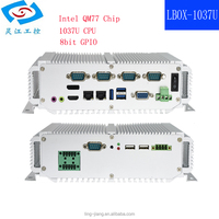 high performance Intel I5-3317U 1.8GHz Embedded Industrial mini PC Fanless all in one Computer