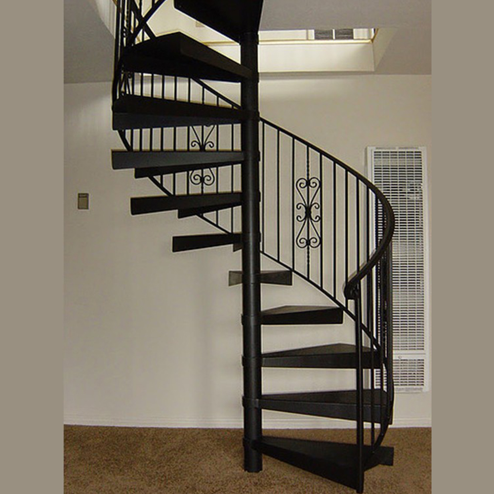 Indoor Usage and Metal Stair Material staircase