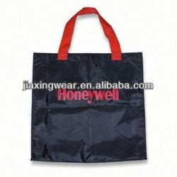 Various styles foldable black nylon tote bag
