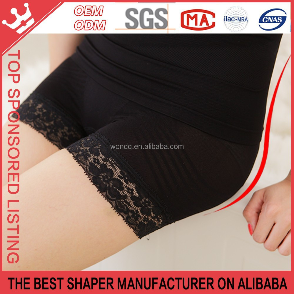 germanium, titanium, silver,platina slimming element up hip slimming abdomen and thigh Lace underwear,Ladies Panties k12