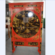 Chinese antique furniture painted wooden wardrobe LWA333