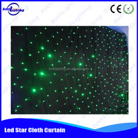 fireproof the best quality led star curtain,beautiful LED night club decoration