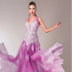 L384 Lavender Prom Dress 2019 Evening Dress Lace Long Gown Mermaid Party  Wear Backless Prom Gowns 33f824a7064c