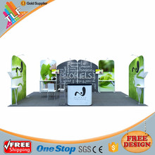Custom exhibition expo booth display stand, fashion fabric trade show booth