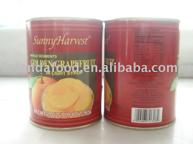 canned grapefruit in light syrup
