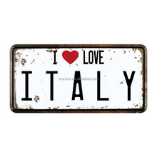 Wholesale Custom Embossed Italy Country Number License Plates