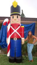 Best sale inflatable Christmas soldier decoration,inflatable toy soldier