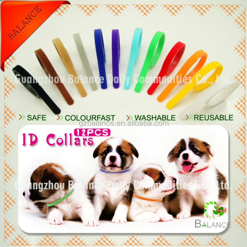 12 color Puppy whelping ID band/kitten collar