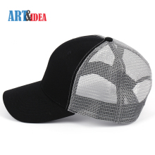 Factory wholesale best black and grey cotton promotional plain trucker mesh caps