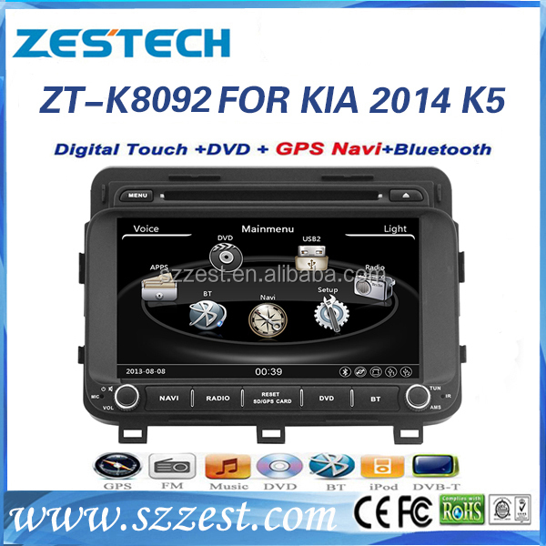 ZESTECH car dvd player for KIA 2014 K5 car audio stereo with 3g wifi TV bluetooth Steering Wheel Control