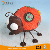 China best manufacturer cute fake weave ladybug resin garden statues
