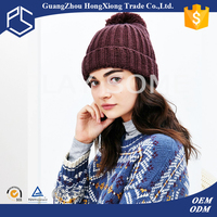 Promotional custom warmth plain 100% cotton winter hats