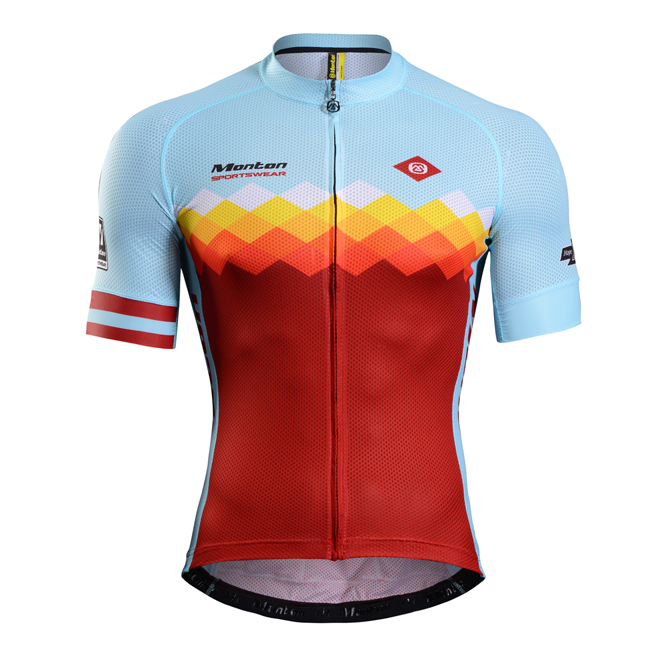 High Quality Race Cut Italy MITI Fabric Custom Cycling Jersey