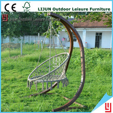 New fashion patio handmade wooden leisure hanging basket/chair
