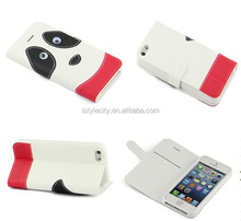 Cartoon Panda PU Leather Smart Cover Case for Apple iPhone