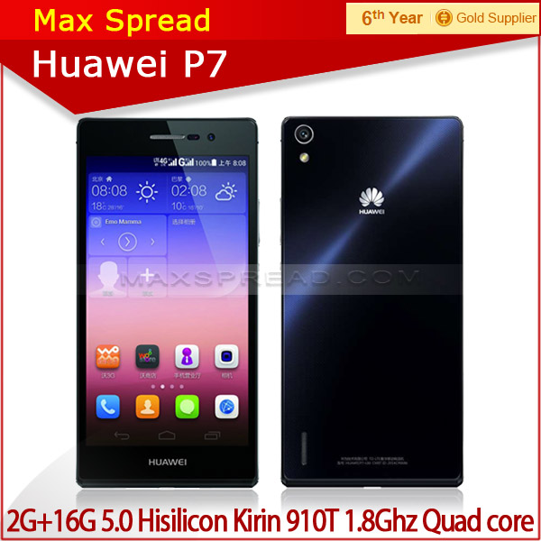 with english box huawei p7 Android 4.4 Quad core 1.8GHz 8Mp/13Mp camera mobile phone yxtel mobile phone