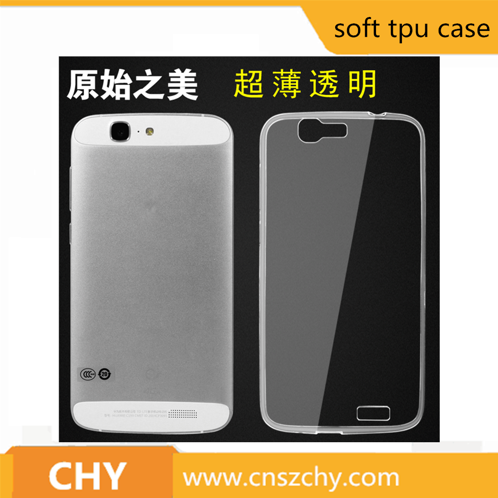 Cheap high quality ultra thin transparent soft tpu mobile phone case For Huawei Ascend G7