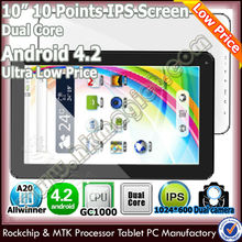 dual core best 10.1 inch cheap 5000mah battery tablet pc with otg cable