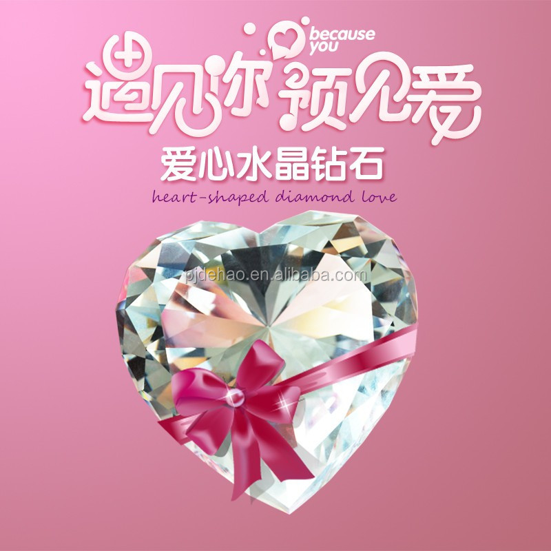 Wedding Return Gifts Favors Heart-shaped K9 Crystal Diamond