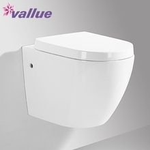 Popular toilette ceramic wall mounted sanitary ware toilet girl wc toilets