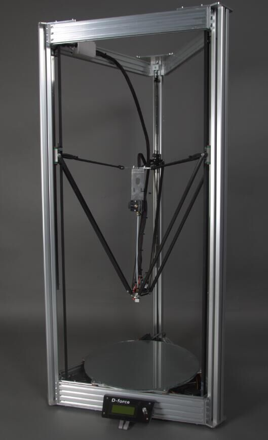 Simple aluminum delta rapid prototype 3d model <strong>printer</strong>