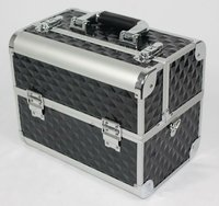 Popular black aluminum make up beauty case cosmetic