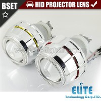 Latest Hot Sale! Square double angel eyes motorcycle headlights, HID bixenon projector lens headlight