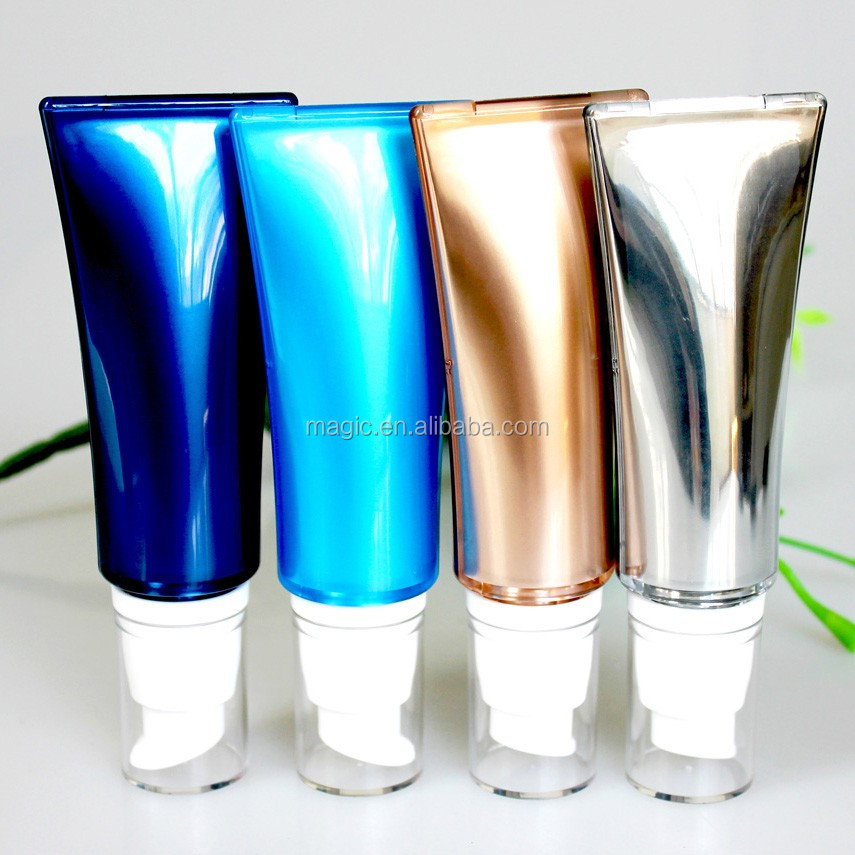 gold plastic packaging tube cosmetic airless tube