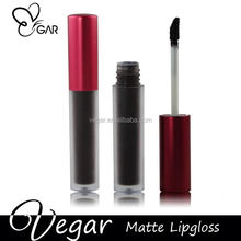 black color matte lipgloss special color eye-catching color lipbalm palstic soft cosmetic tube