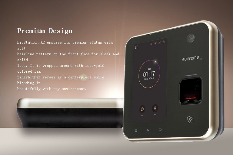 Suprema BioStation A2 Live Finger Detection Fingerprint Time Attendance with Access Control