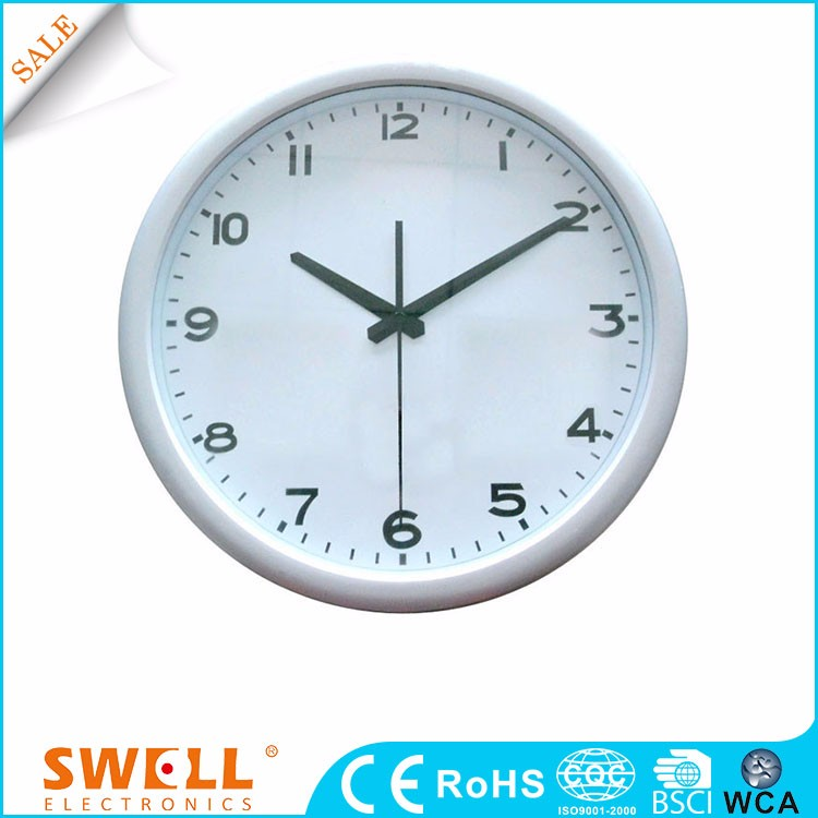 12 inch corner religious plate rim wall clock with abs cover