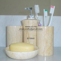 MARBLE BATHROOM SET ACCESSORIES