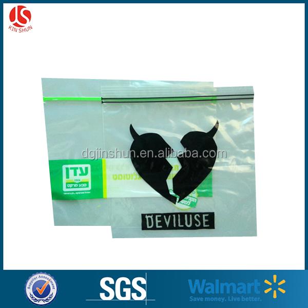 Custom Recycled Clear Plastic PE Polybag & waterproof Ziplock Bag
