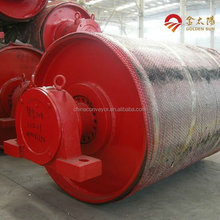 Natural rubber lagging drum on belt conveyor use head drive bend pulley long lifetime less cost